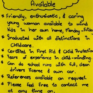 Babysitter required in Ogonnelloe, Ireland
